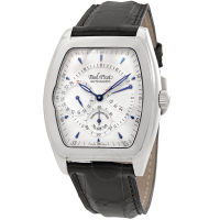 Majestic Silver Dial Automatic Men's 18K White Gold Watch