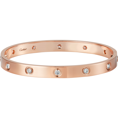 БРАСЛЕТ CARTIER LOVE PINK GOLD 10 DIAMONDS