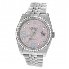 Datejust 36mm Pink Floral dial with Diamond bezel