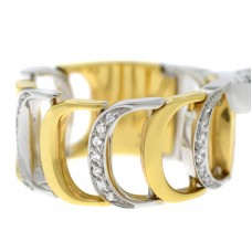 Кольцо Damianissima Yellow White Gold & Diamonds