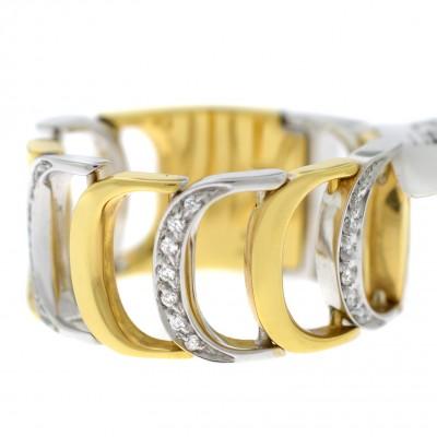 Кольцо Damianissima Yellow White Gold & Diamonds