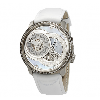 Mother of Pearl Dial Men's Hand Wound Diamond Watch